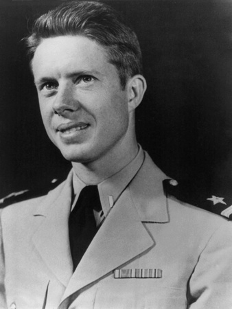 Future President Jimmy Carter as Ensign, after Graduating from the Naval Academy in 1946 Photo