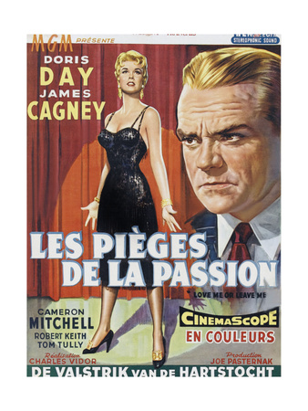 Love Me or Leave Me, (AKA Les Pieges De La Passion), Belgian Poster Art, 1955 Giclee Print