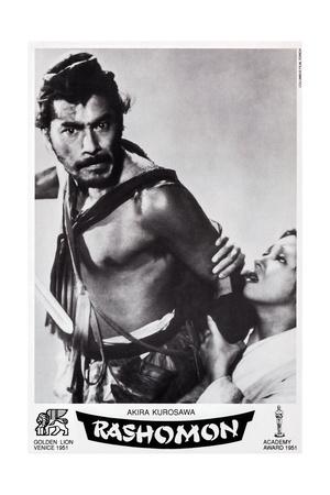 Rashomon, Swiss Poster Art, from Left: Toshiro Mifune, Machiko Kyo, 1950 Giclee Print