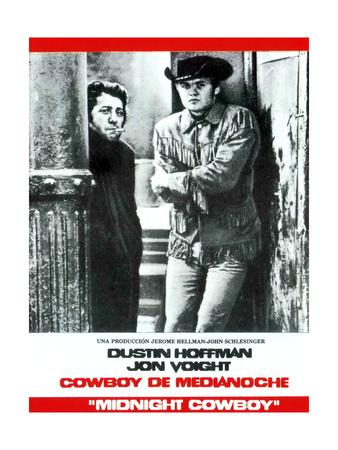 Midnight Cowboy, from Left: Dustin Hoffman, Jon Voight, 1969 Giclee Print