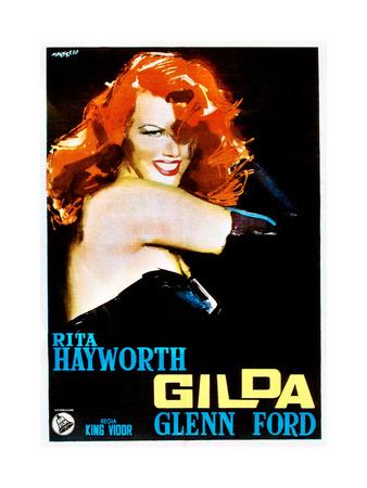 Gilda, Rita Hayworth on 1950s Italian Poster Art, 1946 Giclee Print