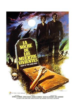 Night of the Living Dead, (AKA La Noche De Los Muertos Vivientes), Spanish Poster Art, 1968 Giclee Print