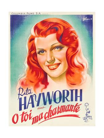 You Were Never Lovelier, (AKA O Toi Ma Charmante!), Rita Hayworth on French Poster Art, 1942 Giclee Print