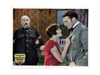 The Return of Sherlock Holmes, from Left, Hubert Druce, Betty Lawford, Clive Brook, 1929 Giclee Print