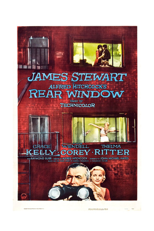 Rear Window, Grace Kelly, James Stewart, 1954 Giclée-tryk