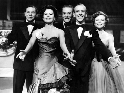 The Band Wagon, Oscar Levant, Cyd Charisse, Jack Buchanan, Fred Astaire, Nanette Fabray, 1953 Photo