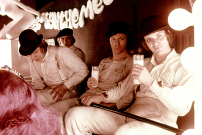 A Clockwork Orange, Warren Clarke, James Marcus, Malcolm Mcdowell, 1971 Photo