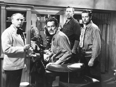 My Darling Clementine, from Left: Ben Hall, Henry Fonda as Wyatt Earp, Ward Bond, Tim Holt, 1946 Photo