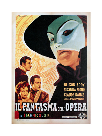 The Phantom of the Opera, (AKA Il Fantasma Dell Opera), 1943 Giclee Print