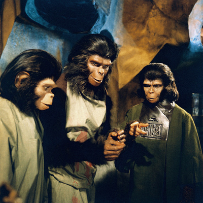 Planet of the Apes, Roddy Mcdowall (Left), Kim Hunter (Right), 1968 Photo