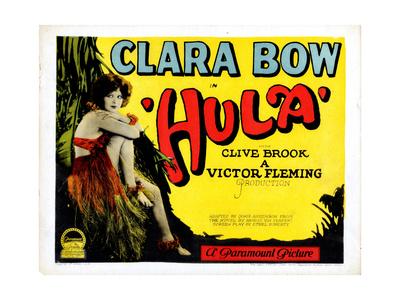 Hula, Clara Bow, 1927 Giclée-tryk