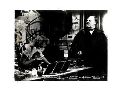 The Blue Angel, (AKA Der Blaue Engel), from Left, Marlene Dietrich, Emil Jannings, 1930 Giclee Print
