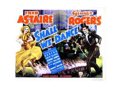 Shall We Dance, from Left, Ginger Rogers, Fred Astaire, 1937 Giclee Print