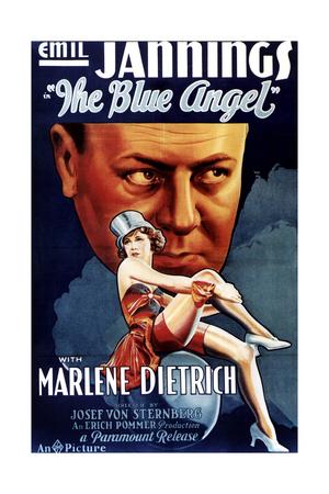 The Blue Angel, Marlene Dietrich, Emil Jannings (Rear), 1930 Giclee Print