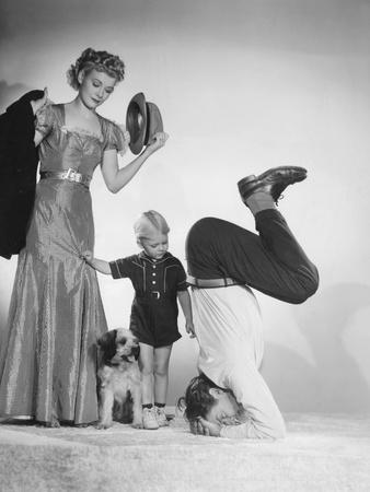 Blondie, from Left: Penny Singleton, Larry Simms, Arthur Lake, 1938 Photo