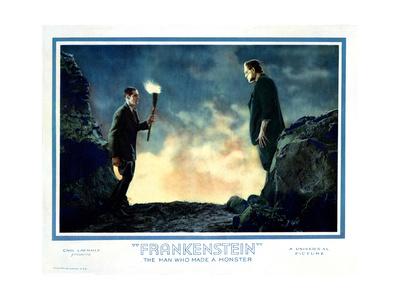 Frankenstein, from Left: Colin Clive, Boris Karloff, 1931 Giclee Print