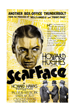 Scarface, Paul Muni, 1932 Giclee Print