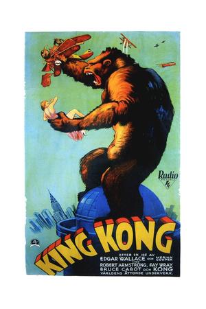 King Kong, Swedish Poster Art, 1933 Giclee Print