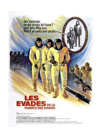 Escape from the Planet of the Apes, (AKA Les Evades De La Planete Des Singes), 1971 Giclee Print