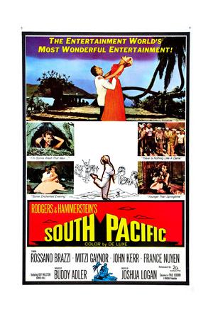 South Pacific, Rossano Brazzi, Mitzi Gaynor, 1958 Giclée-tryk
