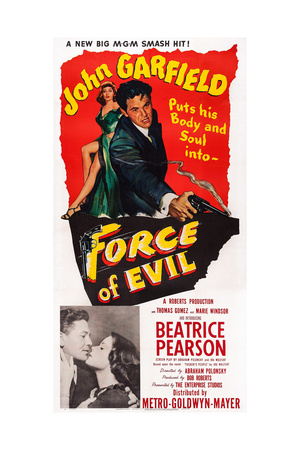Force of Evil, John Garfield, Beatrice Pearson, 1948 Giclee Print