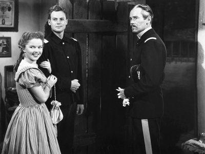 Fort Apache, from Left, Shirley Temple, John Agar, Henry Fonda, 1948 Photo