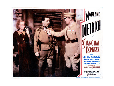Shanghai Express, from Left, Marlene Dietrich, Warner Oland, Clive Brook, 1932 Giclee Print