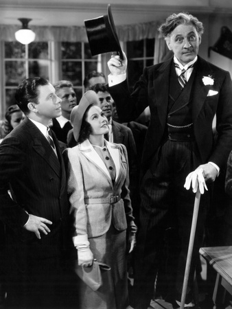 Hod That Co-Ed, from Left: George Murphy, Marjorie Weaver, John Barrymore, 1938 Photo