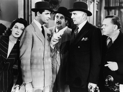 His Girl Friday, Rosalind Russell, Cary Grant, Billy Gilbert, Clarence Kolb, Gene Lockhart, 1940 Photo