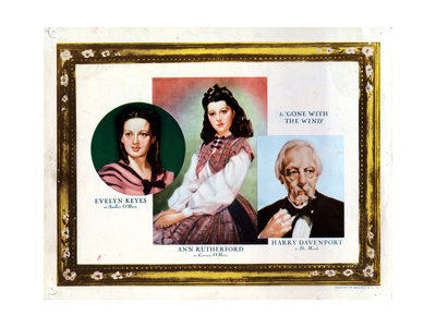 Gone with the Wind, from Left, Evelyn Keyes, Ann Rutherford, Harry Davenport, 1939 Giclee Print