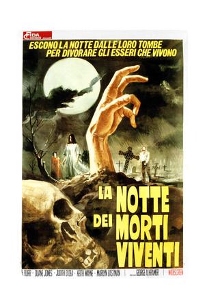 Night of the Living Dead, (AKA La Notte Dei Morti Viventi), Italian Poster Art, 1968 Giclee Print