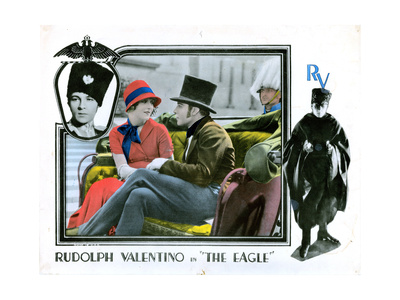 The Eagle, from Left: Vilma Banky, Rudolph Valentino, 1925 Giclee Print