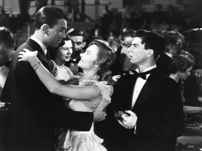 It's a Wonderful Life, from Left: James Stewart, Donna Reed, Carl Switzer, 1946 Photo