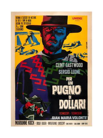 A Fistful of Dollars (AKA Per Un Pugno Di Dollari), Clint Eastwood, 1964 Giclée-tryk