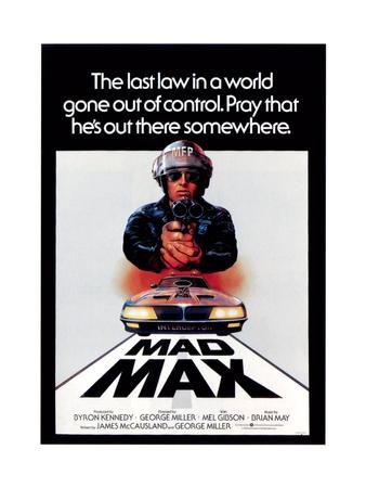 Mad Max, Mel Gibson, 1979 Giclee Print