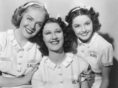 Sally, Irene and Mary, from Left: Alice Faye, Joan Davis, Marjorie Weaver, 1938 Photo