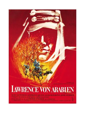 Lawrence of Arabia, (AKA Lawrence Von Arabien), German Poster Art, 1962 Giclee Print