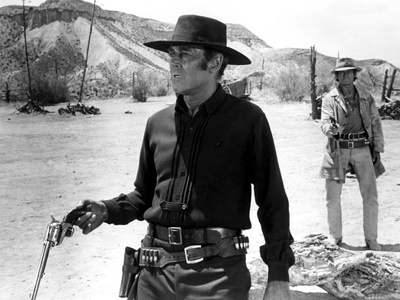 Once Upon a Time in the West, Henry Fonda, Charles Bronson, 1968 Photo