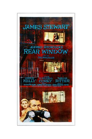 Rear Window, Bottom from Left: Grace Kelly, James Stewart on Poster Art, 1954 Giclee Print
