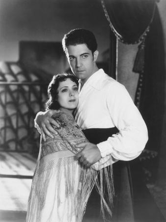 Call of the Flesh, from Left: Dorothy Jordan, Ramon Novarro, 1930 Photo