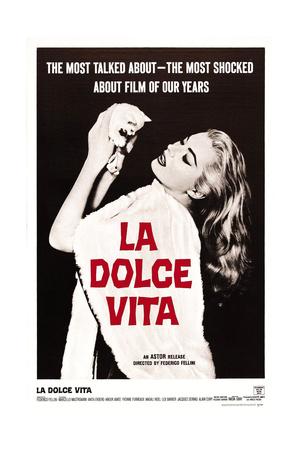 La Dolce Vita, Anita Ekberg, 1960 Giclée-tryk
