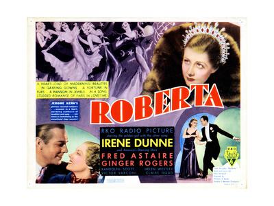 Roberta, Clockwise from Lower Left, Randolph Scott, Irene Dunne, Ginger Rogers, Fred Astaire, 1935 Giclee Print