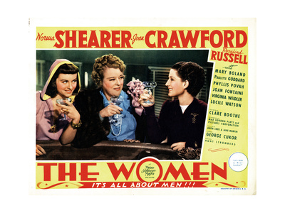 The Women, from Left, Paulette Goddard, Mary Boland, Norma Shearer, 1939 Giclée-tryk