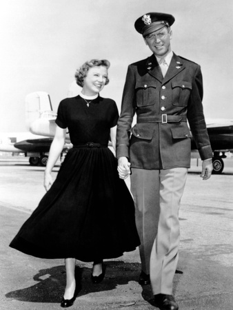 The Glenn Miller Story, June Allyson, James Stewart, 1954 Photo