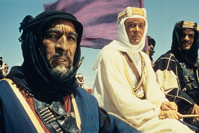 Lawrence of Arabia, (From Left): Anthony Quinn, Peter O'Toole, Omar Sharif, 1962 Photo
