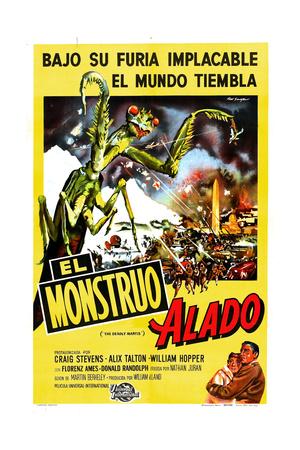 The Deadly Mantis, (AKA El Monstruo Alado), 1957 Giclee Print