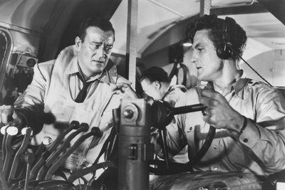 The High and the Mighty, from Left: John Wayne, Robert Stack, 1954 Foto