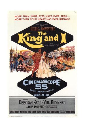 The King and I, Yul Brynner, Deborah Kerr, 1956 Giclee Print