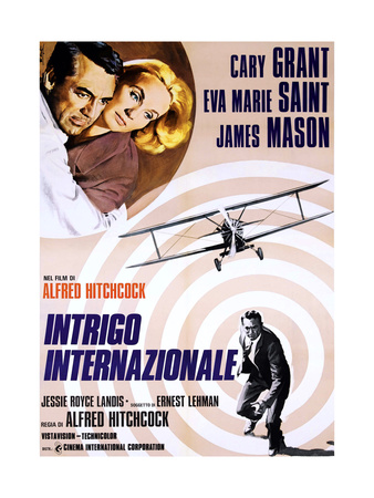 North by Northwest, (aka Intrigo Internazionale), 1959 Giclee Print