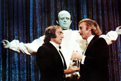 Young Frankenstein, Front from Left: Marty Feldman, Gene Wilder, Peter Boyle (Rear), 1974 Photo